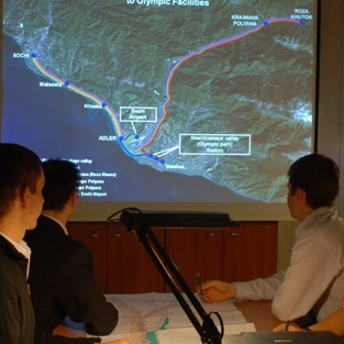 Design works for the Combined (highway and railroad) Road Adler - Alpika Service Mountain Resort.