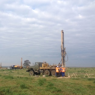 HSR. Drilling of exploration wells on the section 91 km from Moscow Ring Road (September 2015).
